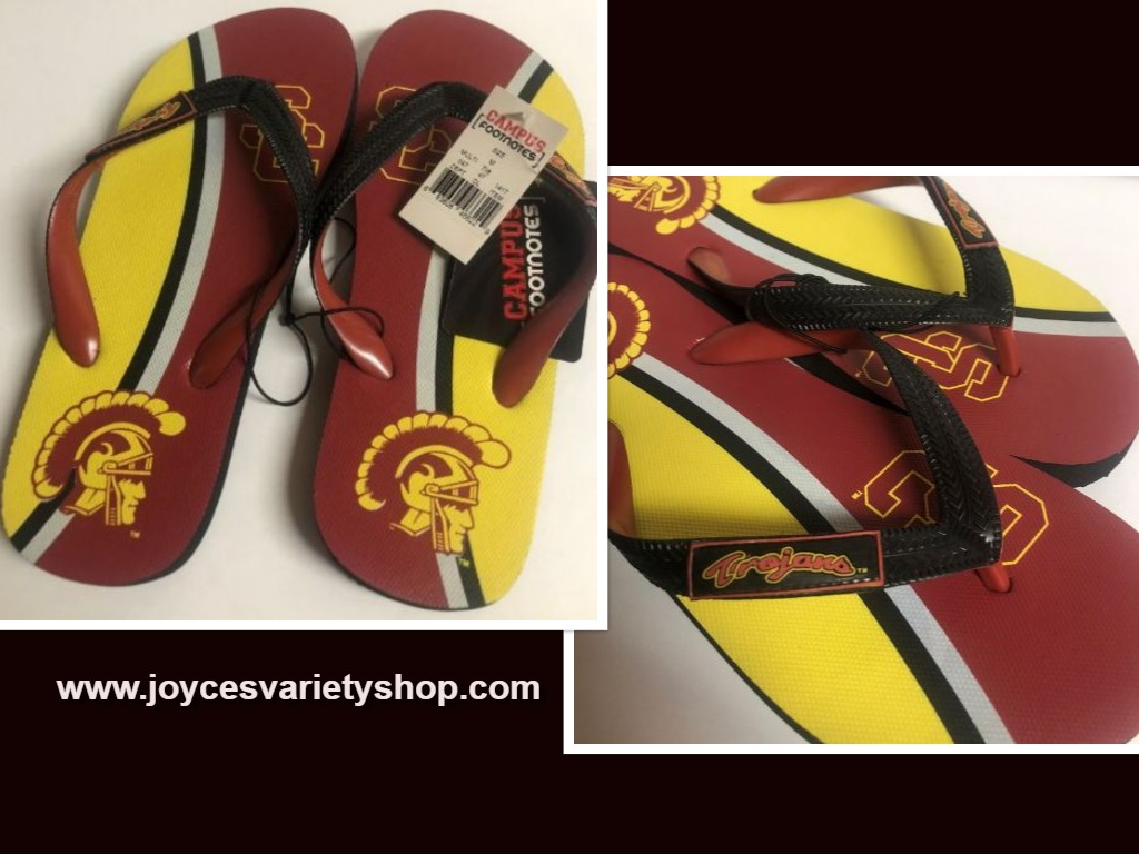 USC So Cal University Trojans Women's Flip Flops Sandals Shoes Many Sizes