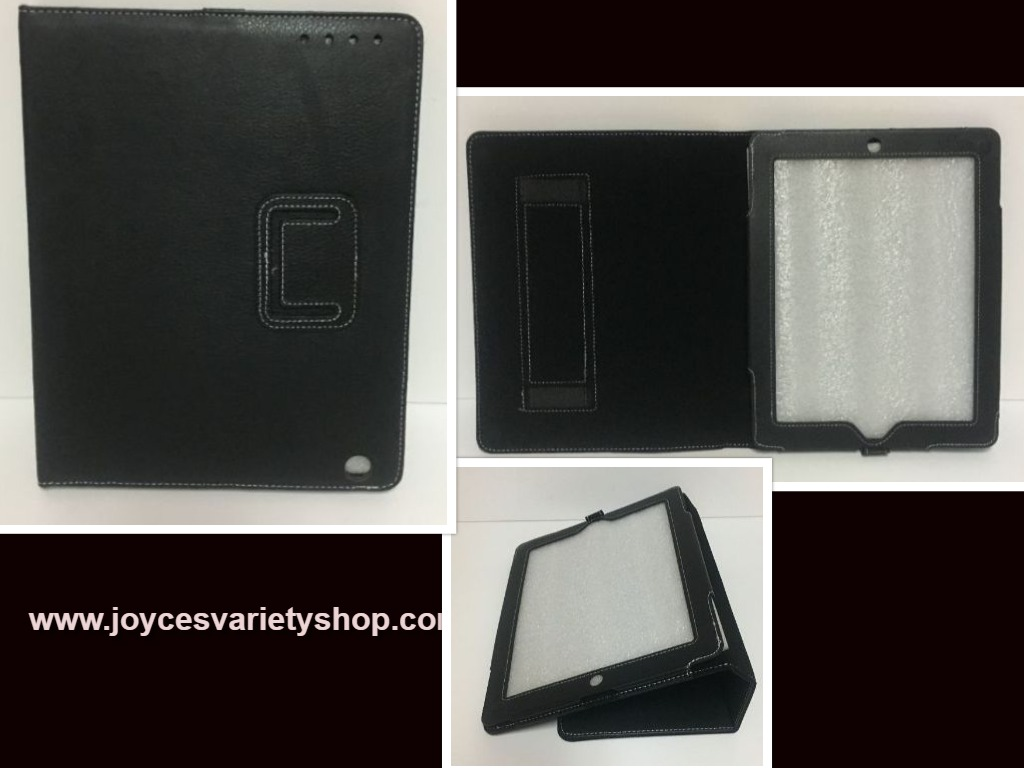 "Tablet Reader iPad Protection Case Black 9"" x 6"" Screen Faux Leather"