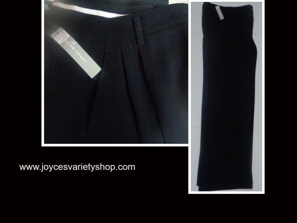 Women's Ellen Tracy Black Slacks Dress Pants Sz 6