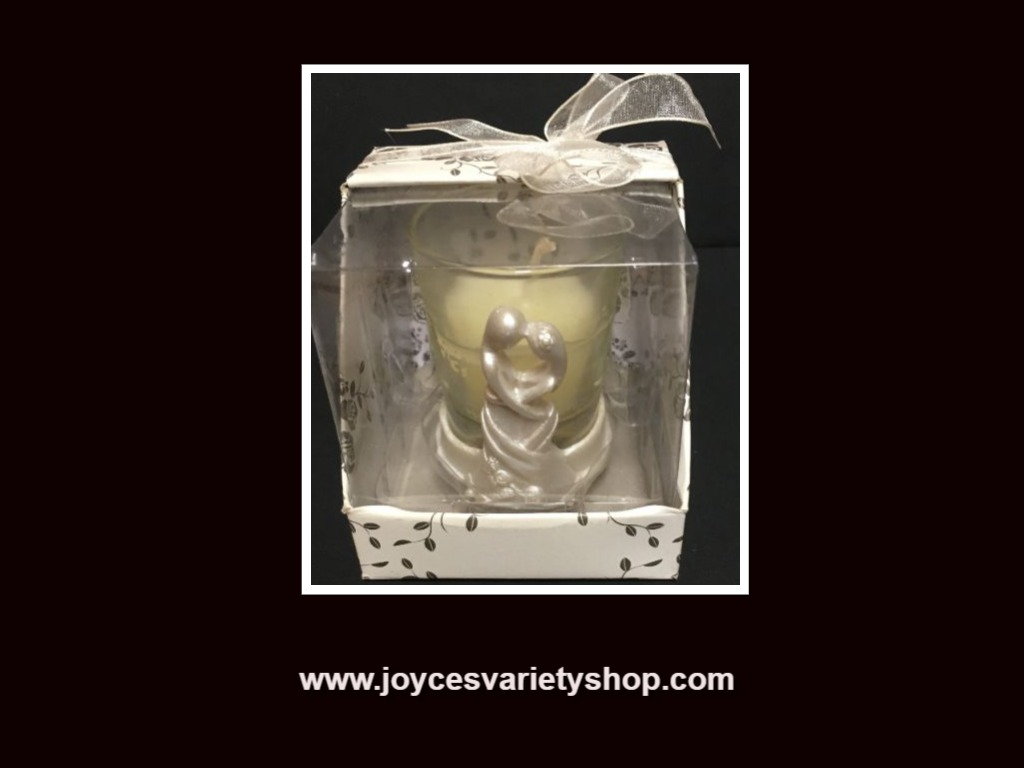 "Wedding Decor Candle 2"" Bride & Groom Modern"
