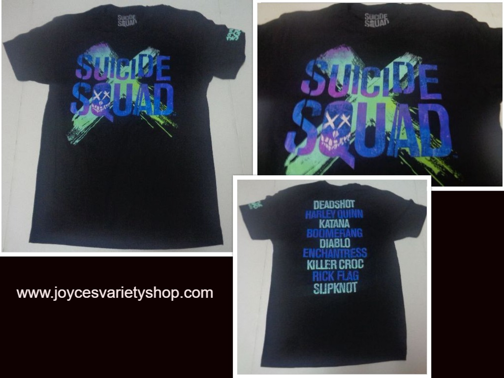 Suicide Squad Movie Black Multi Color T-Shirt NEW Sz Medium