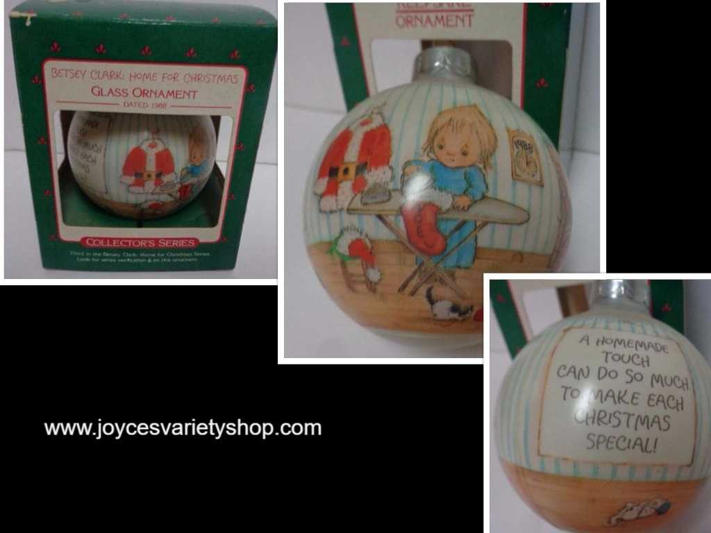 Hallmark HOME FOR CHRISTMAS Keepsake Ornament 1988 w/Box Betsey Clark