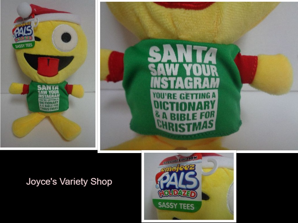 Emojeez Santa Saw Instagram Plush Doll NWT Holidazed Pals Special Edition