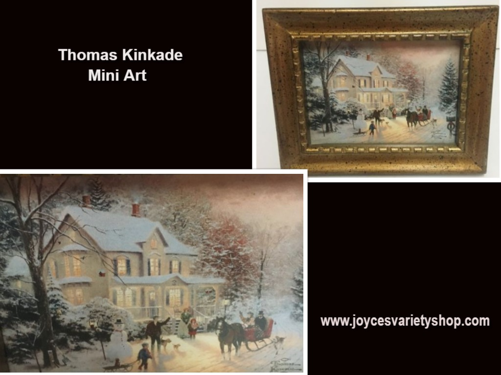 Hallmark 2000 Thomas Kinkade Miniature Framed Art Home For The Holidays