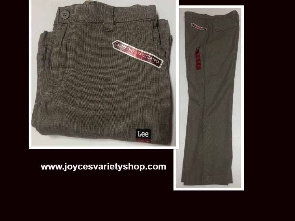 Lee Comfort Fit Casual Pants Women's Sz 14M Gray Small Plaid