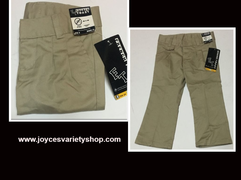 "French Toast Khaki Pants SZ 4 Toddler 21"" Waist"