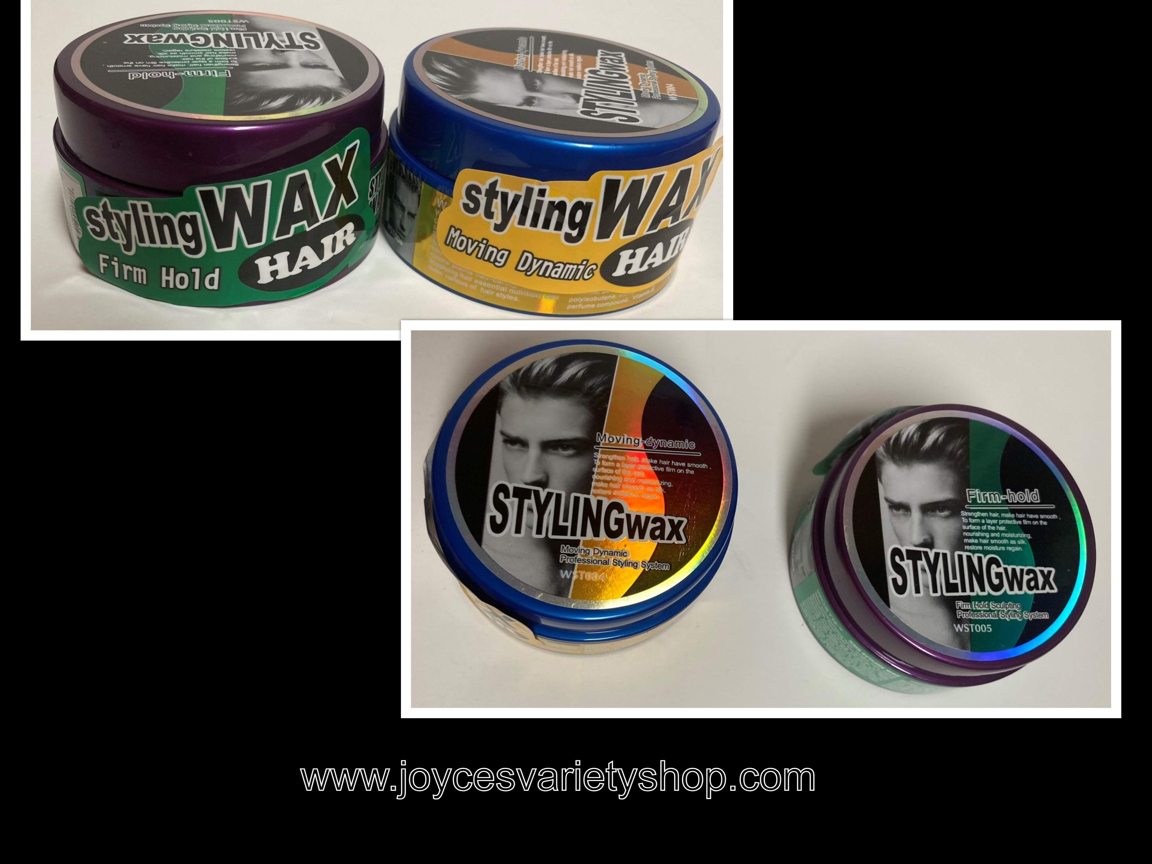 Hair & Beard Hair Styling Wax 3.5 Oz. Tin Choice Moving Dynamic or Firm Hold