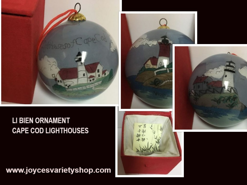 LI BIEN Ornament Inside Painting Tradition Cape Cod Lighthouses Nobska Nauset