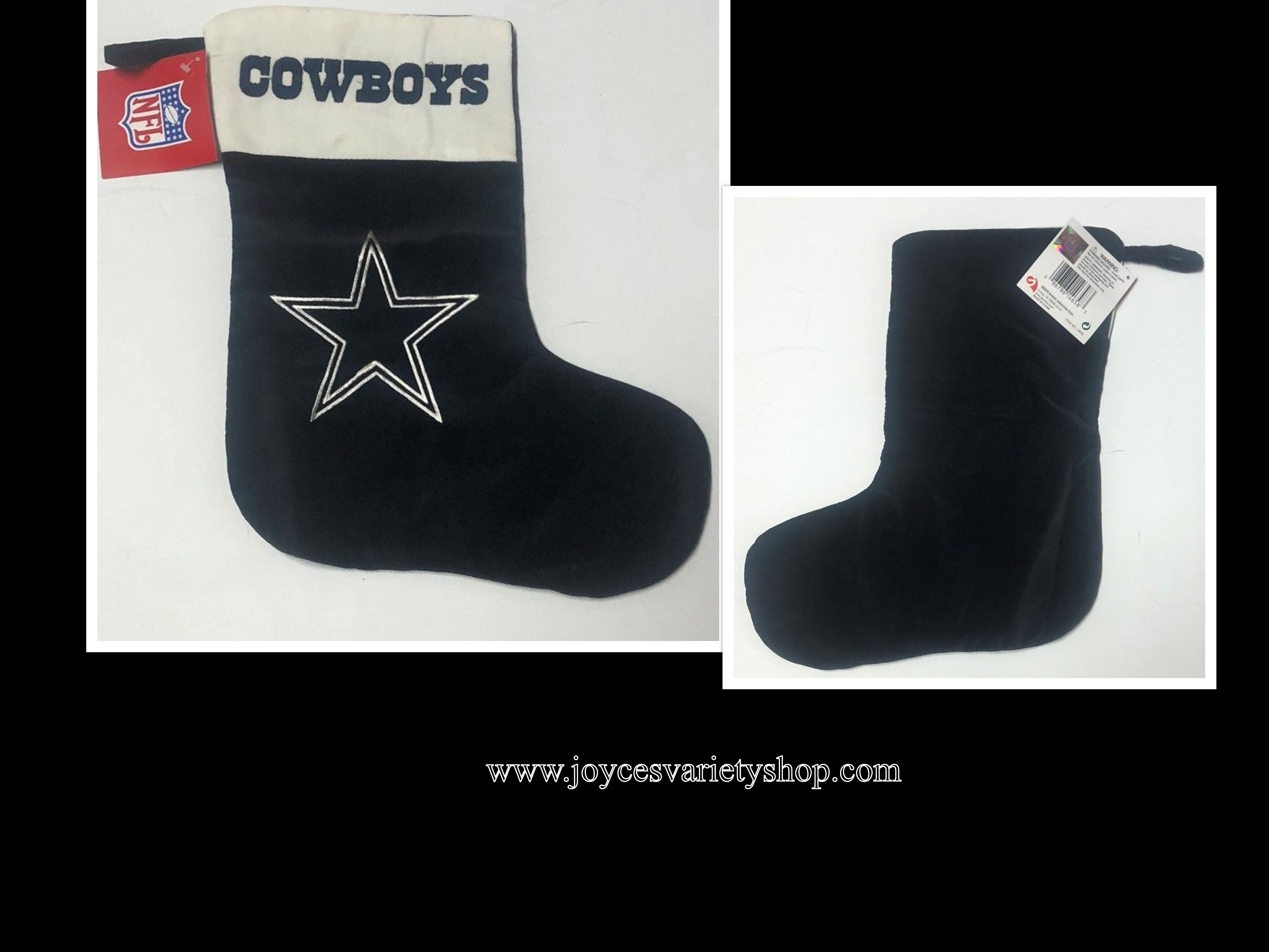 "Dallas Cowboys NFL Christmas Stocking Blue 15"" x 12"""