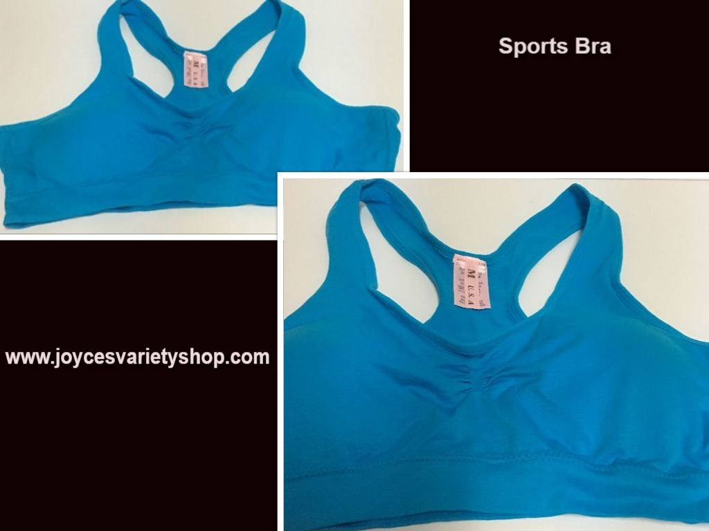 Women's Sport Support Bra Blue SZ Medium Light Padding
