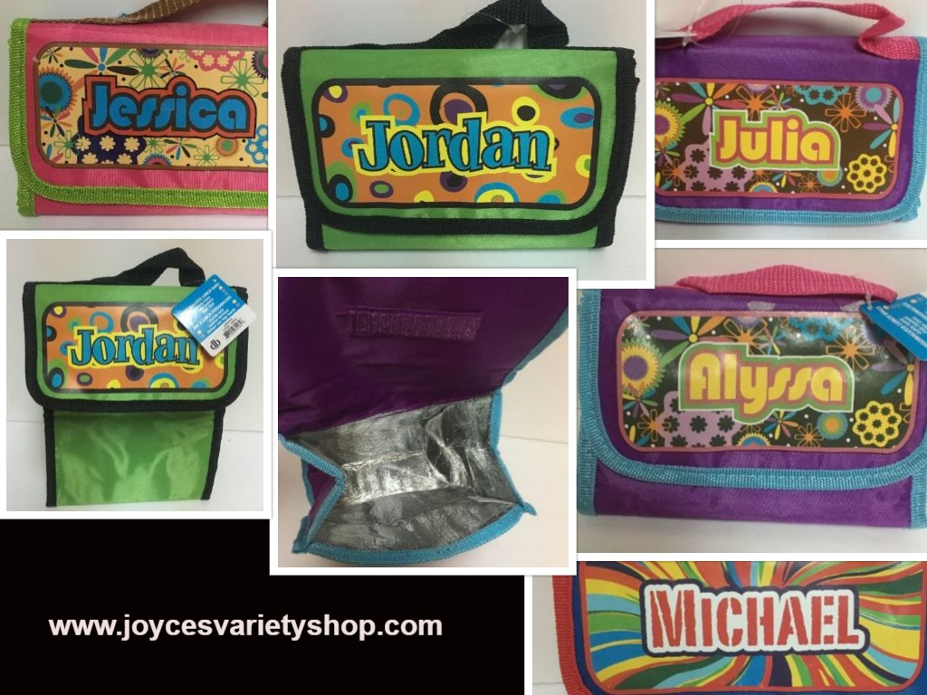 Personalized Insulated Lunch Bag Fold Up JORDAN