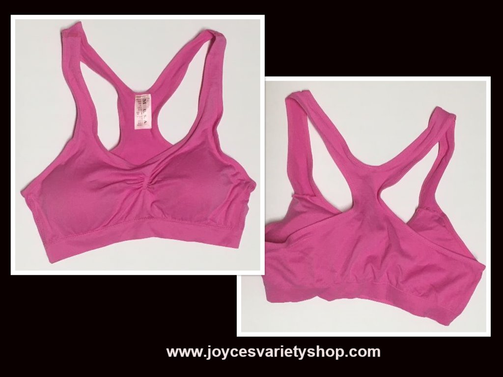 Women's Sport Support Bra Light Pink SZ Medium Light Padding