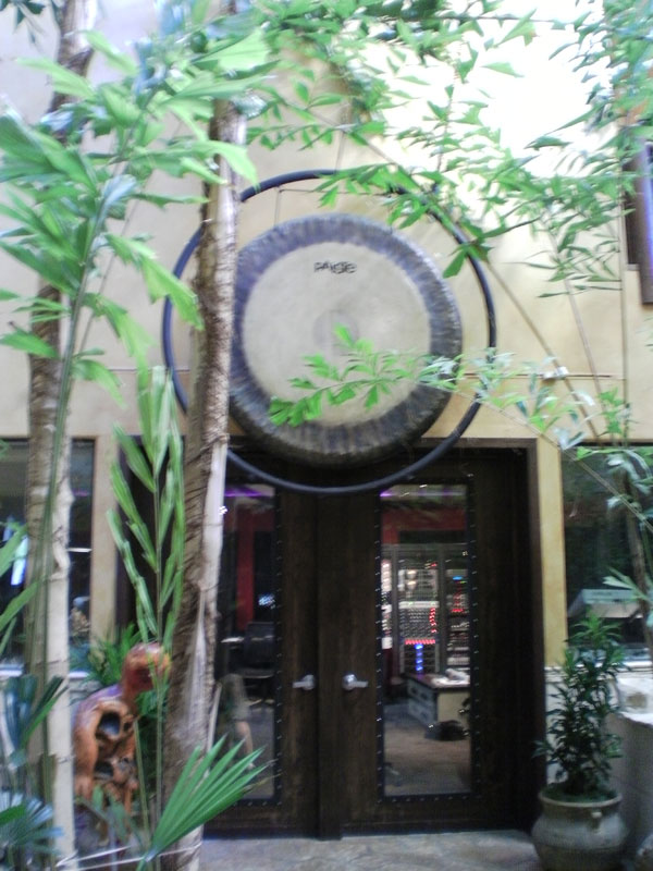 Motley Crue's famous GONG at Tommy Lee's Atrium Studios