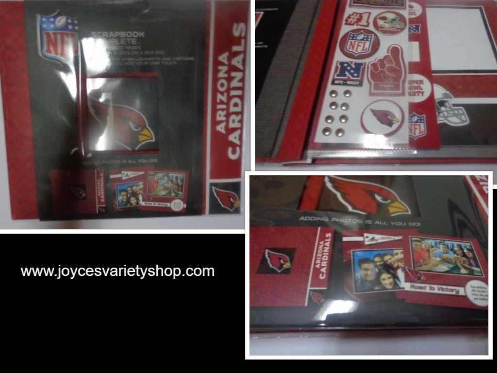 Arizona Cardinal Complete Scrapbook NWT Fast Easy Red Collegiate Licensed