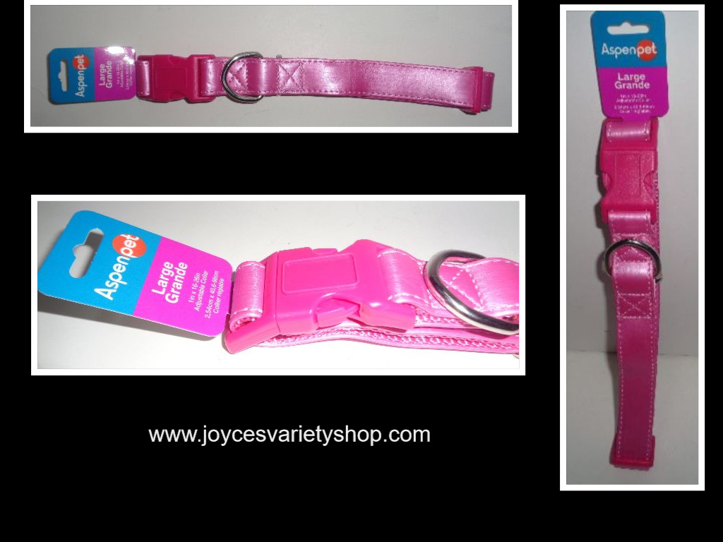 Neon Hot Pink Large Dog Collar NWT Aspen Pet Adjustable