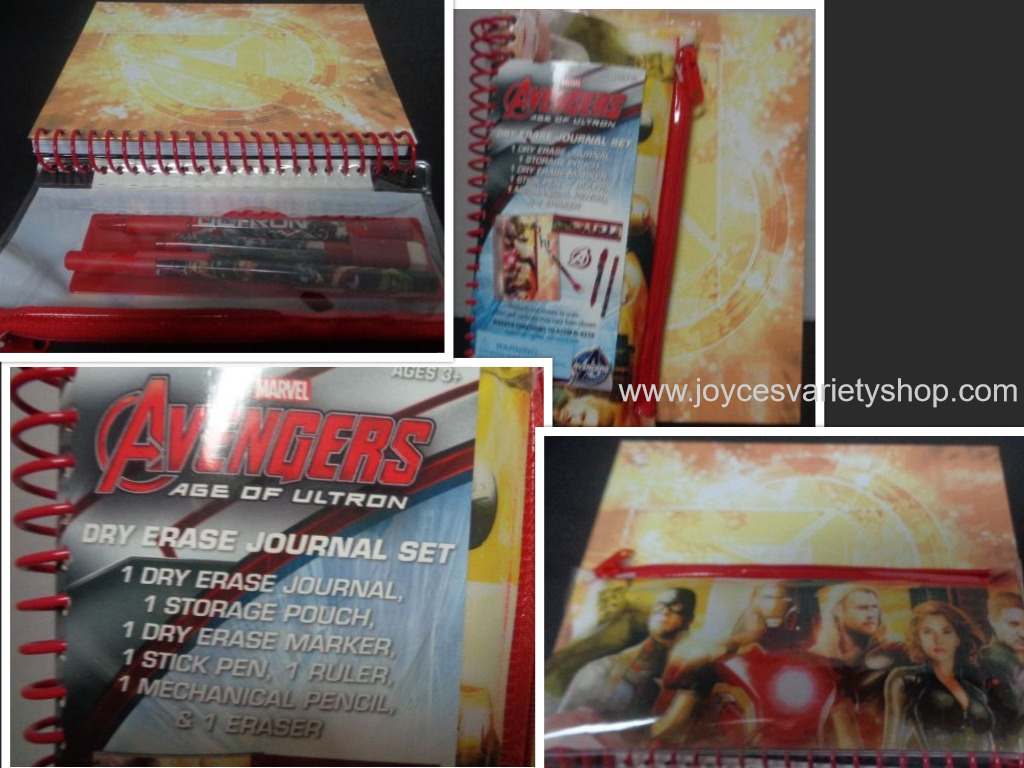 Avengers Age of Ultron Movie Dry Erase Journal Set