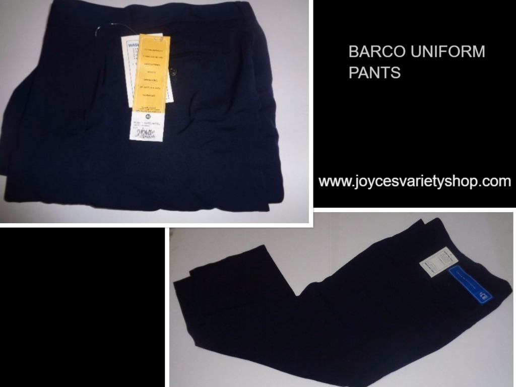 "Barco Men's Uniform Pants NWT Navy Blue SZ 40/32"" Inseam Pleated Front"