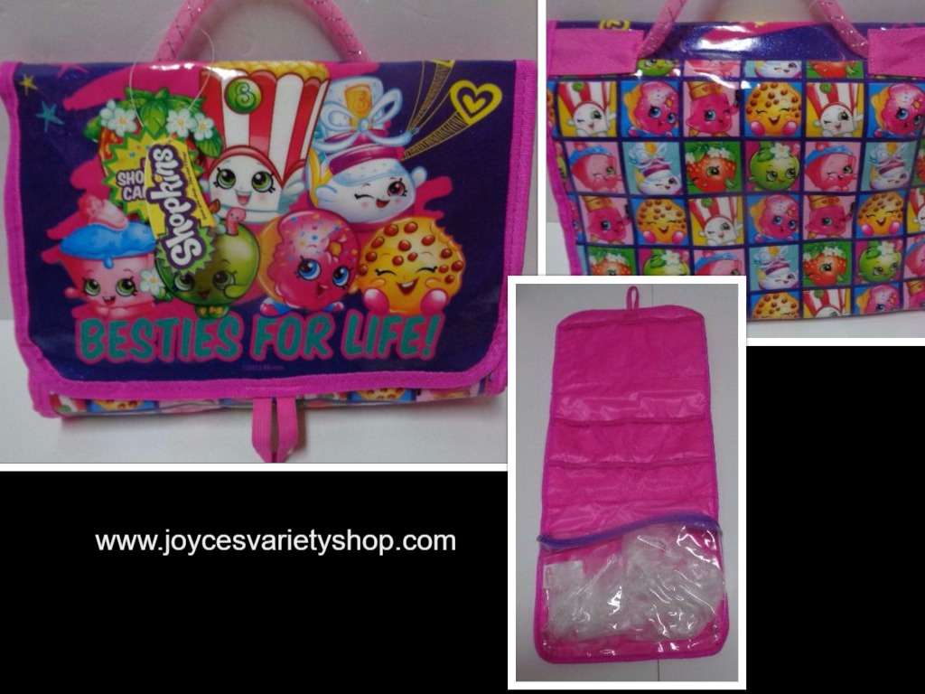 Shopkins BESTIES FOR LIFE Girl's Travel Bag NWT Pink