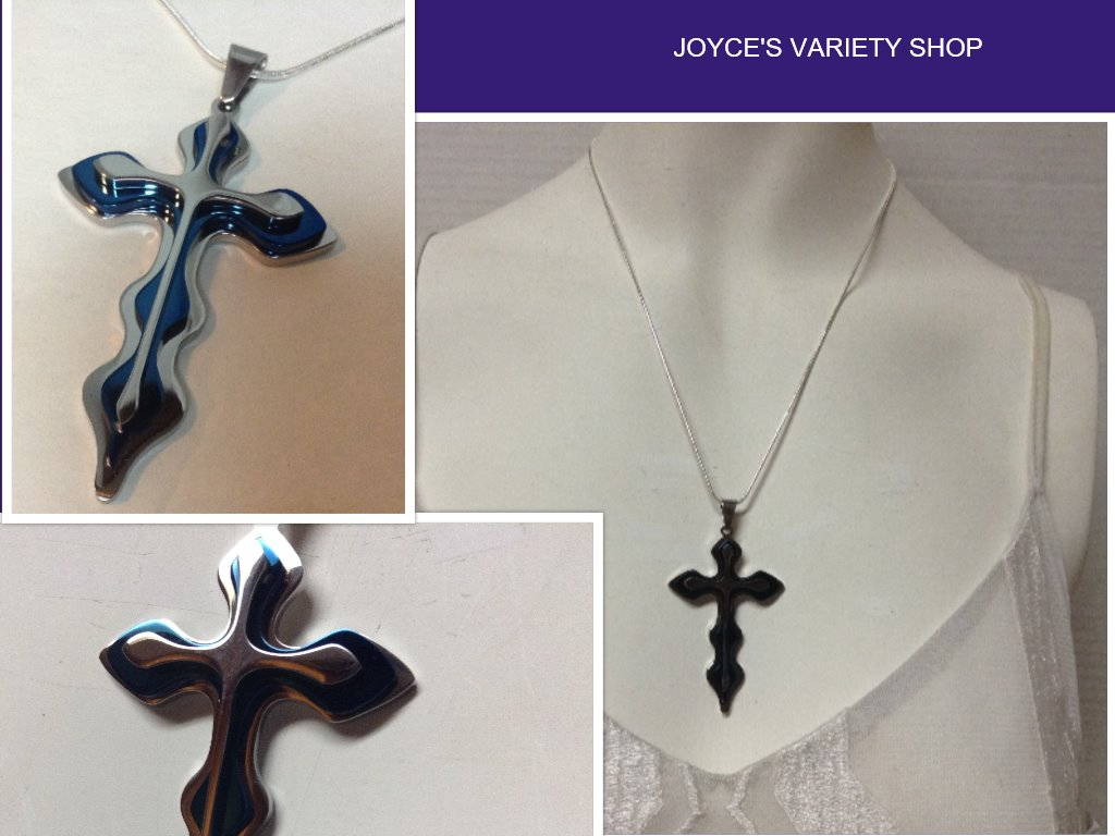 Sterling Silver Blue Cross Necklace