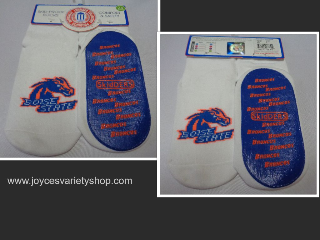 Skidders Toddlers No Skid Boise State Broncos Socks NWT Sz 24 Months