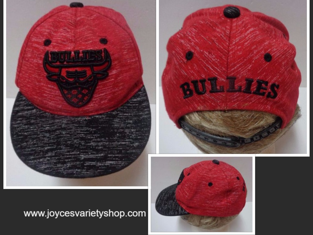 Bullies Snapback Hat NWOT Supply Headwear Free Shipping Red & Black