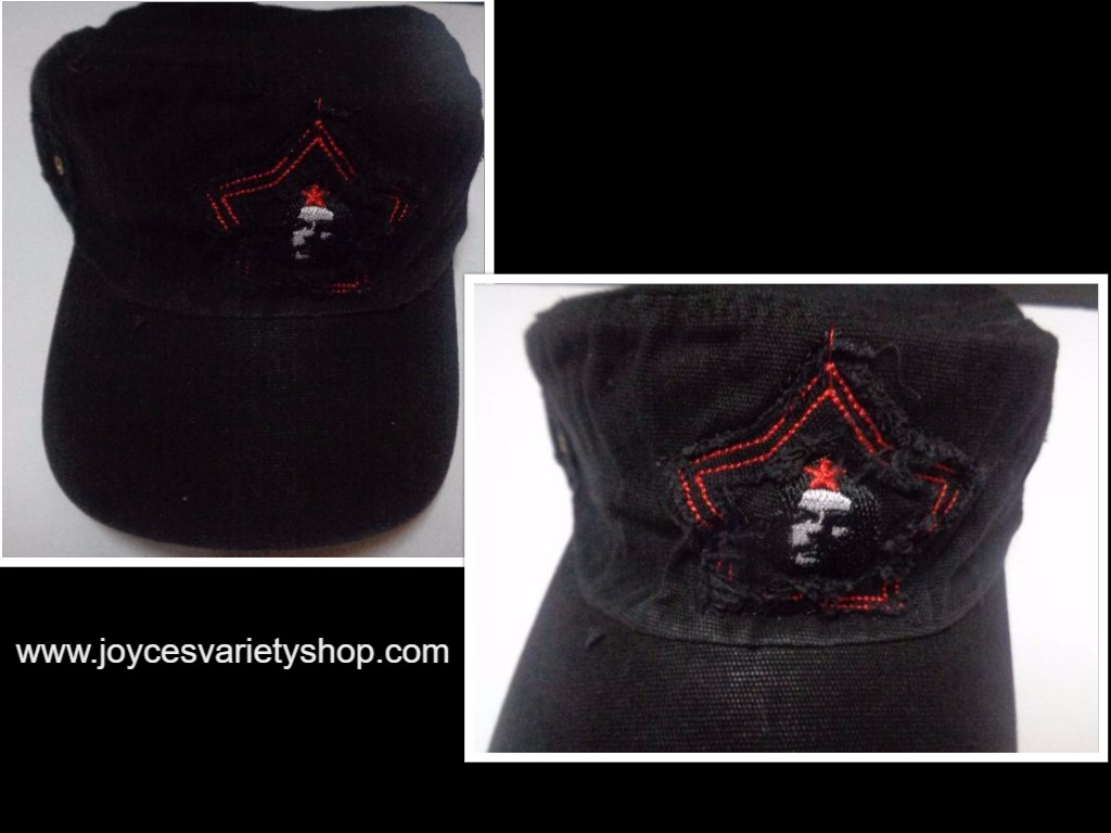 Che Guevara Red Star Distressed Hat Black NWT Adult Size Revolution