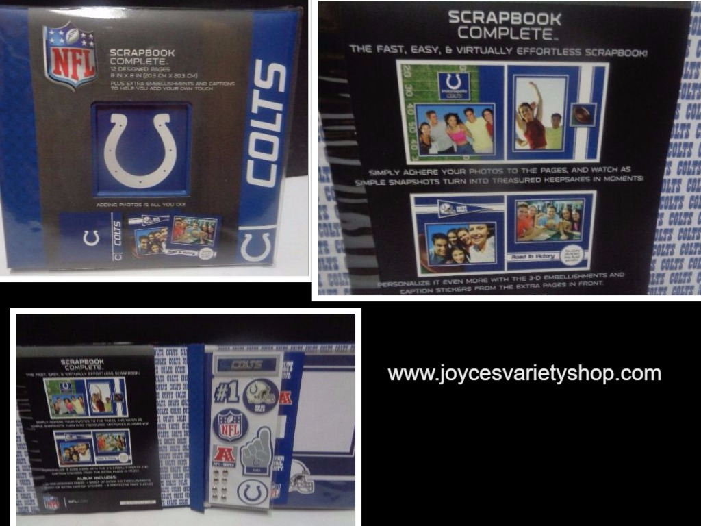 Indiapolis Colts Complete Scrapbook NWT Fast Easy Blue Collegiate Licensed