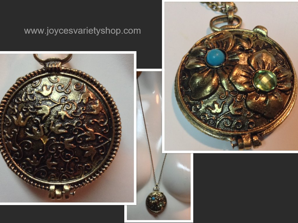 Copper Locket Necklace