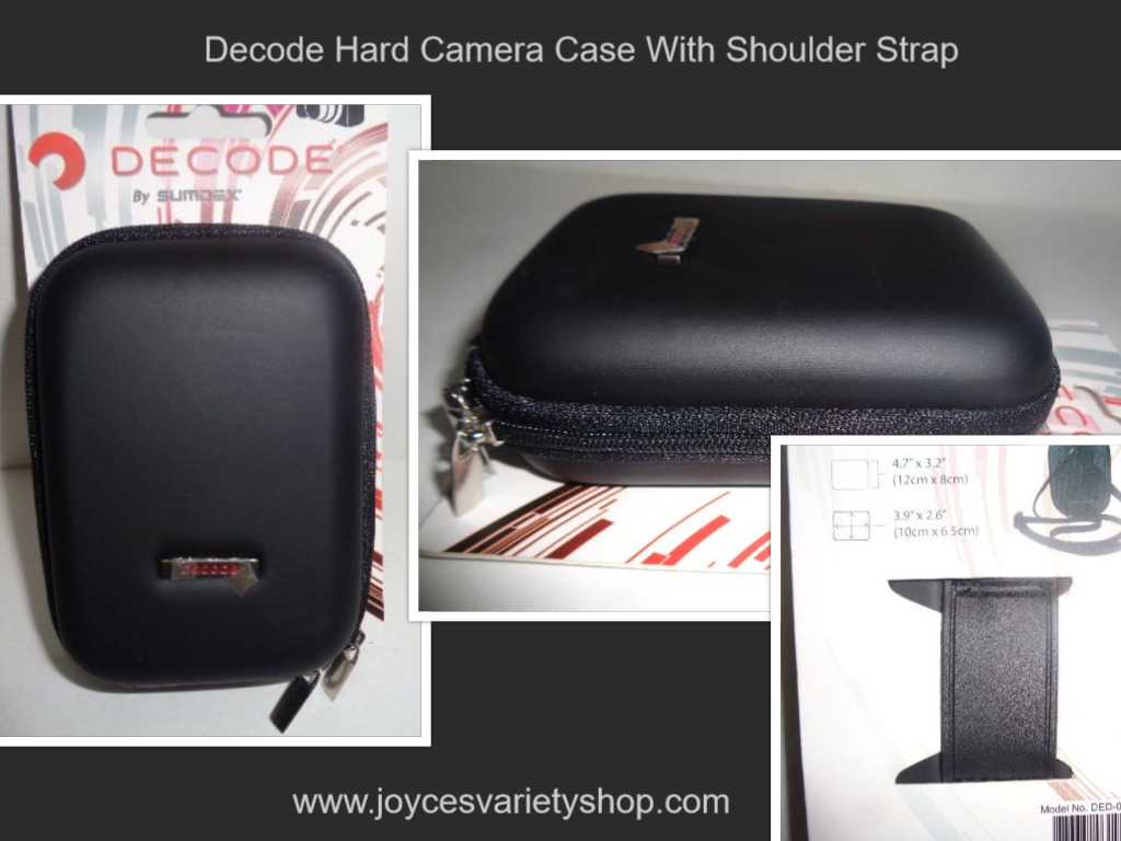 "Decode Camera Case Hard Cover Black w/ 23"" Adjustable Strap NWT by Sumdex"
