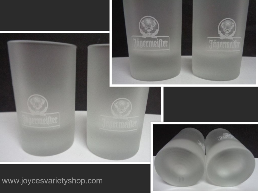 Jagermeister Frosted Shot Glasses Set Of Two