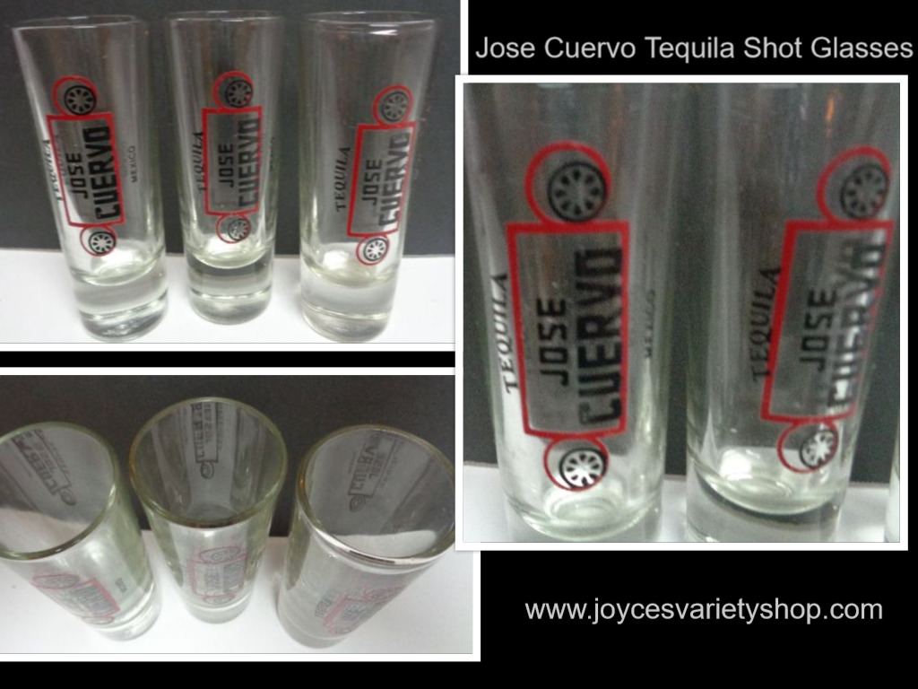 Jose Cuevo Tequila Tall Shooter Glasses SET OF THREE