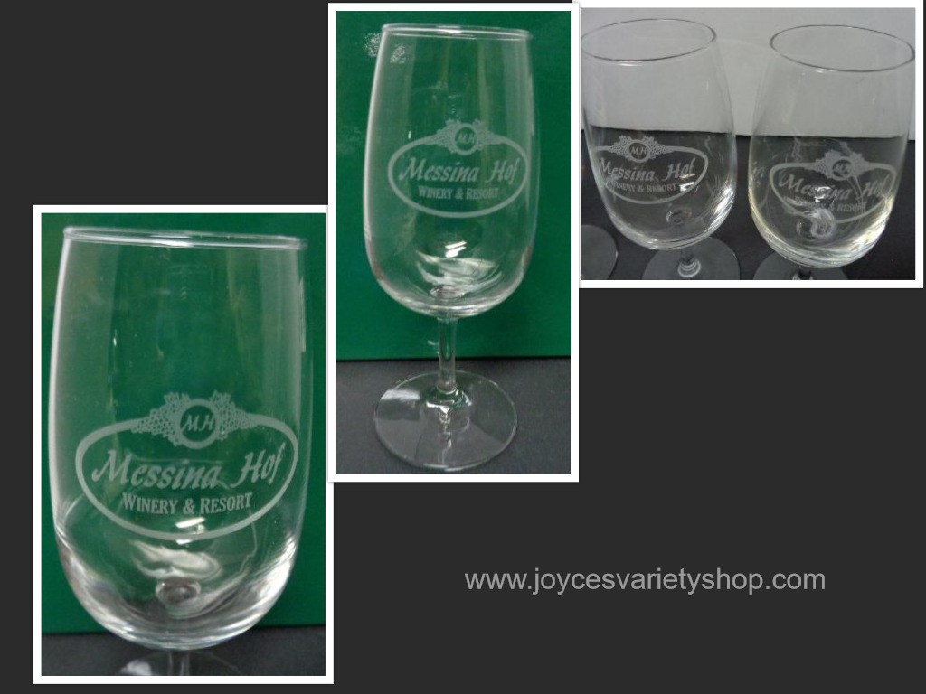 MESSINA HOF WINERY RESORT STEMMED WINE GLASS SET 2
