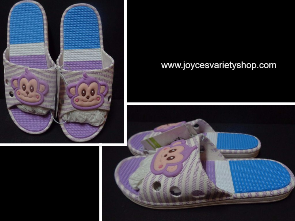 Women's Slip On Sandals Monkey Face Purple Sz 6.5 NWT