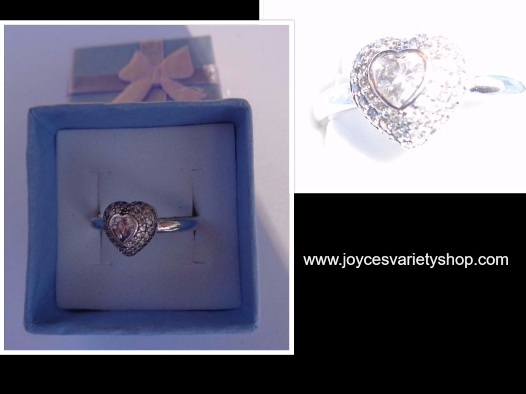 Sterling Silver 925 MY HEART Ring NIB SZ 8