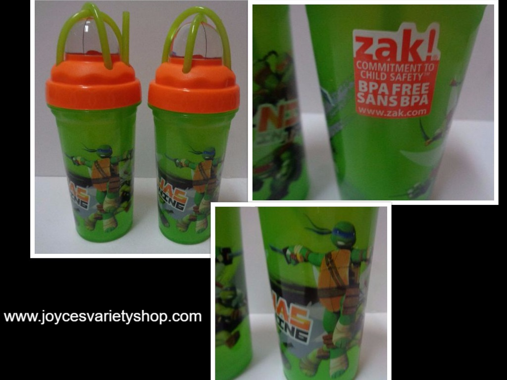 ZAK Ninjas in Training Turtle Tumblers NWT 8 oz BPA Free Lot of 2