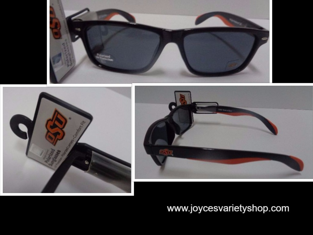 OSU Oklahoma University College Licensed Polarized Sunglasses NWT Orange & Black