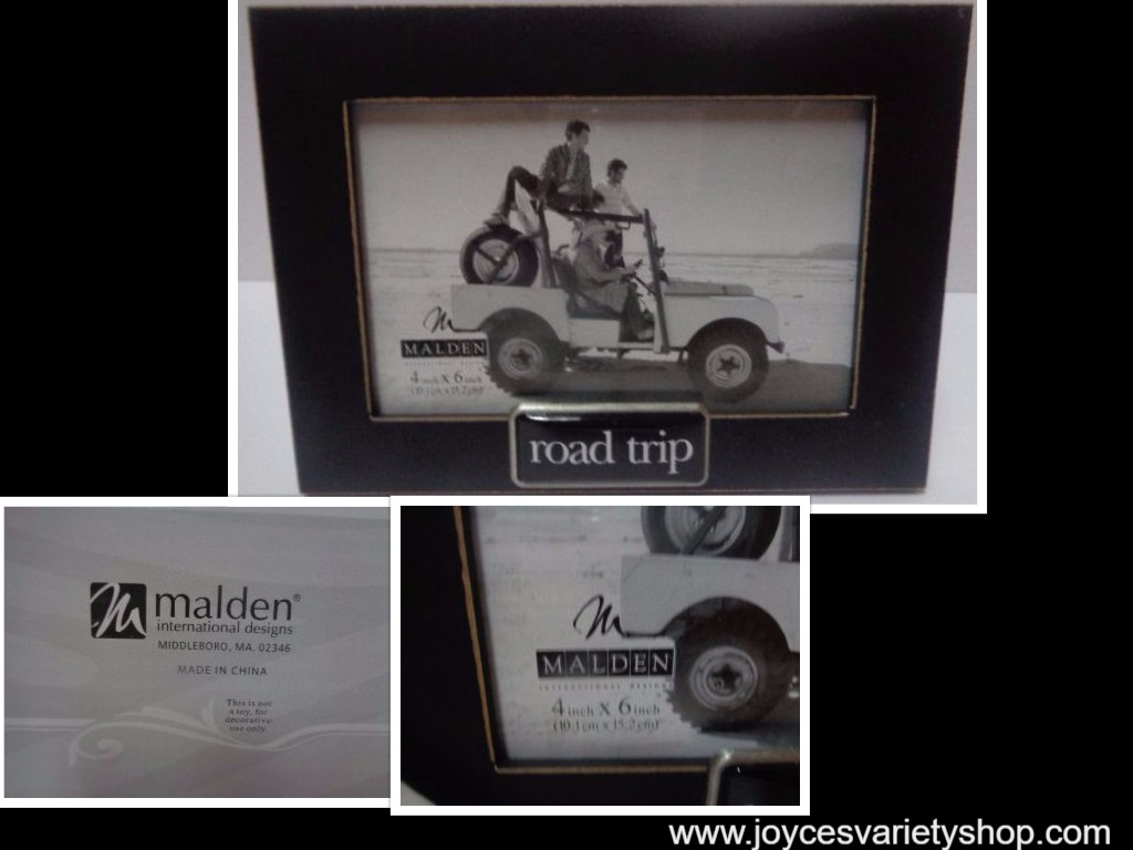 ROAD TRIP Photo Frame Black 4 x 6 Photo 8 x 6 Frame NIB Malden