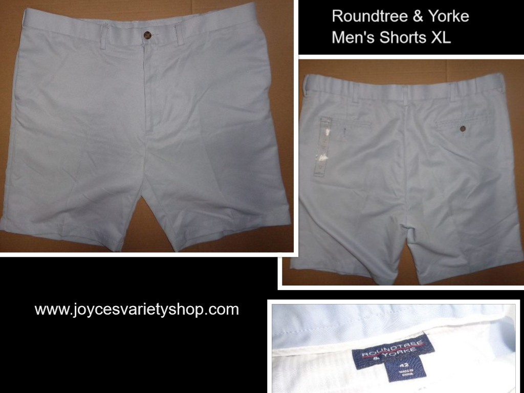 Roundtree & Yorke Men's Field & Stream Shorts SZ XL 40-42 Light Baby Blue
