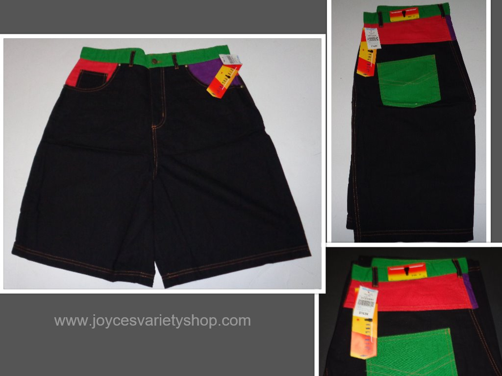 Sergio Valente Black Surf Shorts