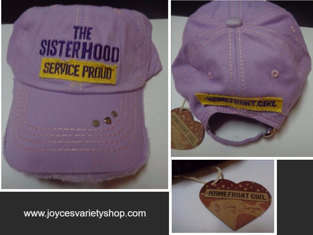 THE SISTERHOOD Purple Baseball Hat NWT Homefront Military Gaby Juergens