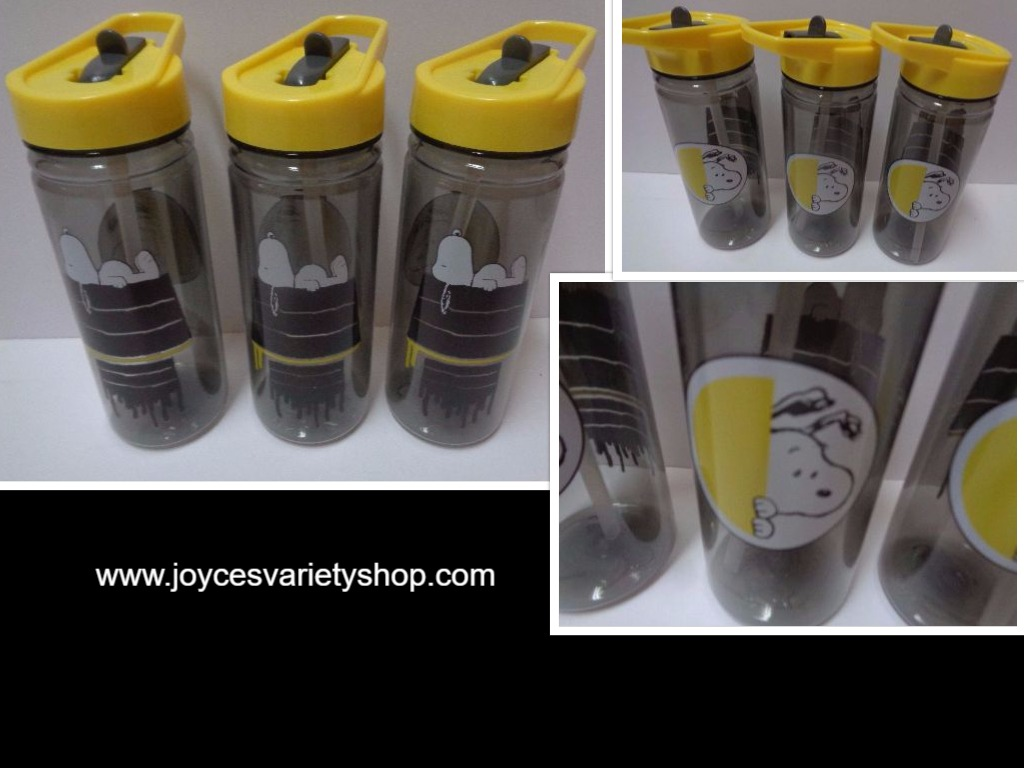 ZAK Snoopy Peanuts Tumblers Water Bottles NWT 16 oz BPA Free Lot of 3