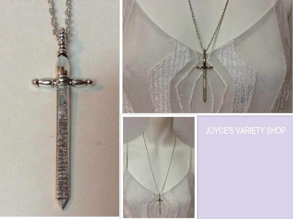 Medieval Sword Cross Necklace