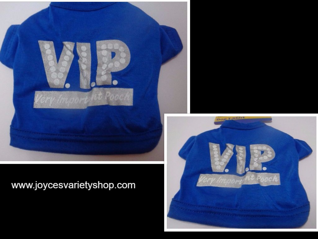 Blue Doggy VIP Shirt NWT Extra Small Dog