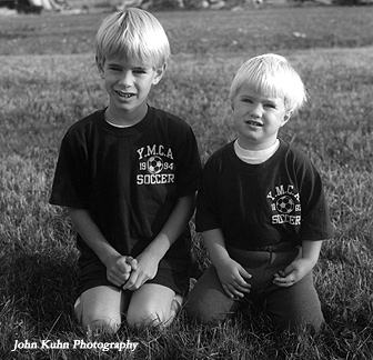 My sons now ages 28 and 24.  Yashica Mat 124G