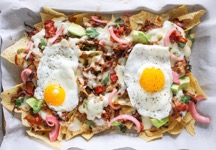 Pulled Pork Breakfast Nachos with Jalapeno-Cheddar Saucejpeg