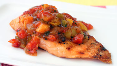 Salmon with Mango Salsajpg