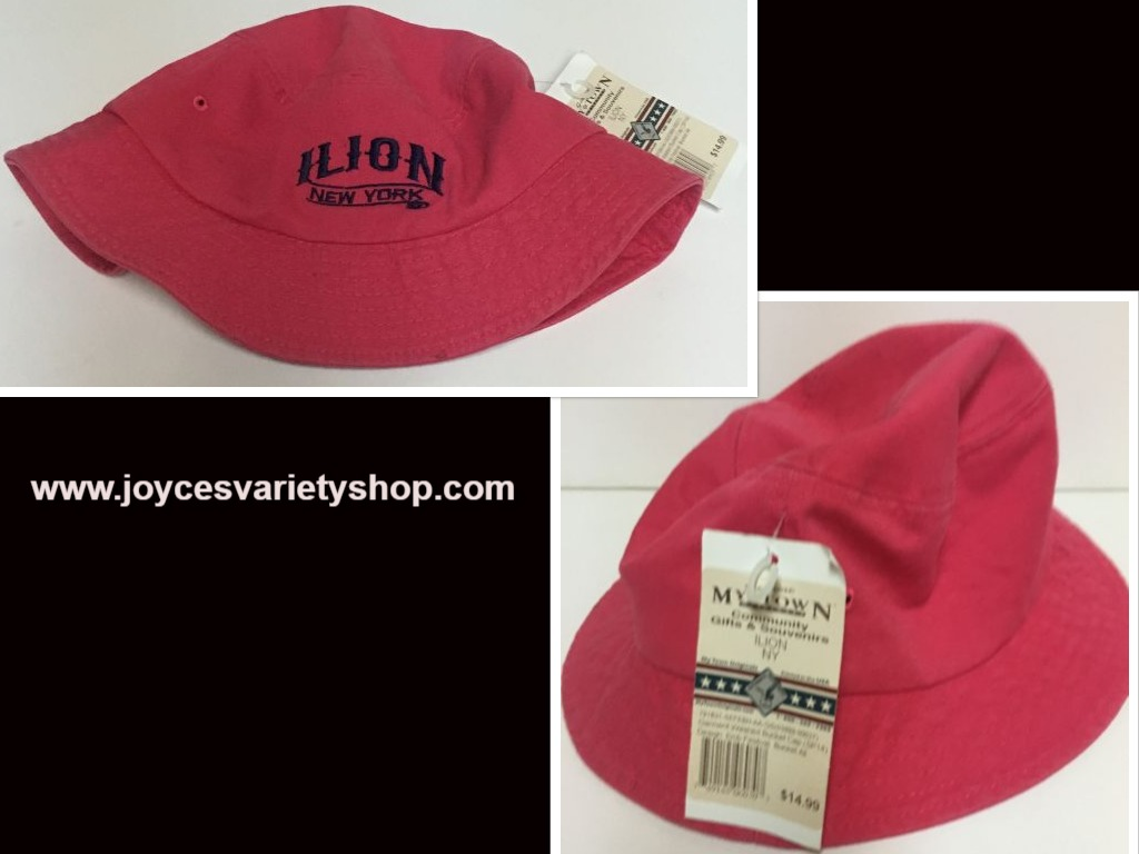 Ilion New York Pink Bucket Hat My Town Community Souvenirs Adult Size