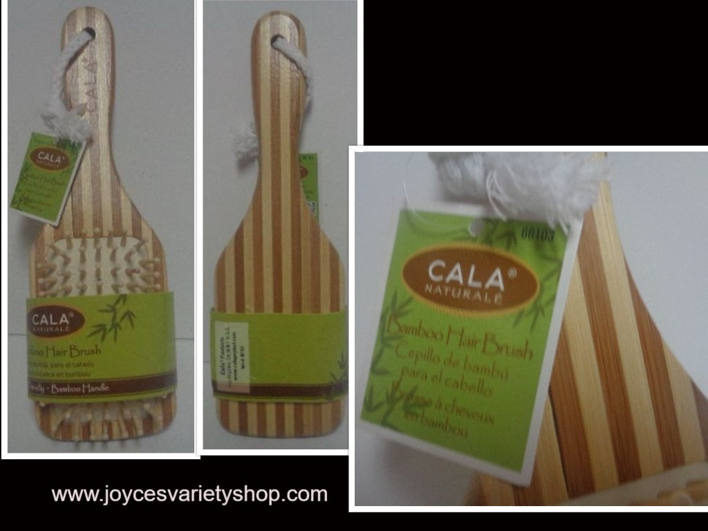 Cala Natural Bamboo Hair Brush NWT Eco Friendly Free Shipping