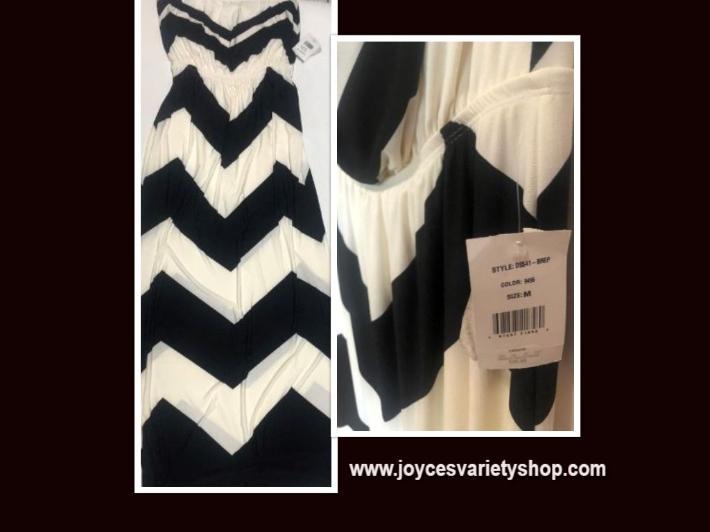 Mm Mm Mm Summer Halter Dress Maxi Black & White Sz M