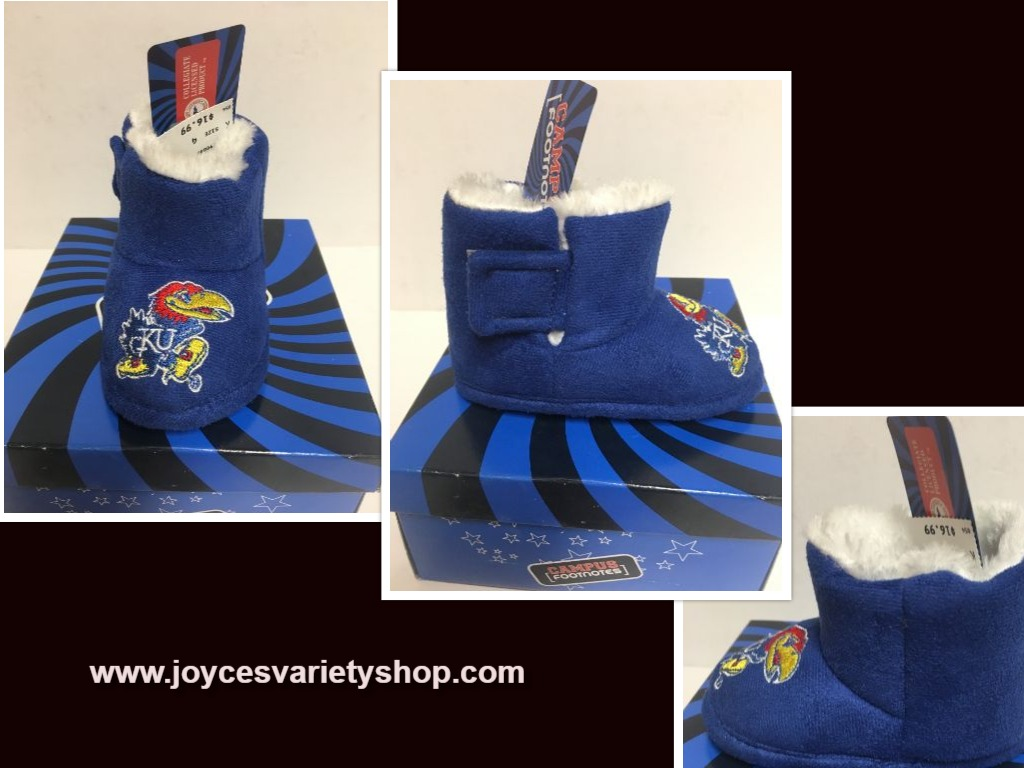 Campus Footnotes Infant Kansas University Blue Boots Sz 4